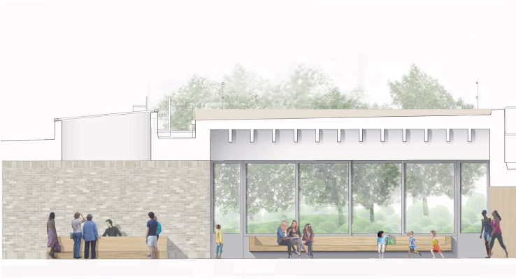 Artists impression of the centre entrance