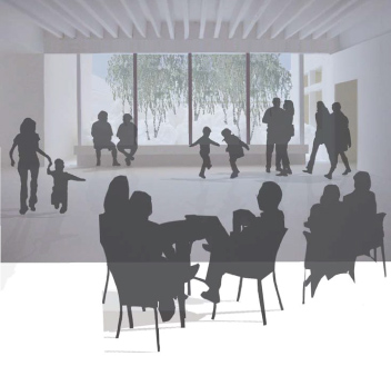 Artist impression of the foyer