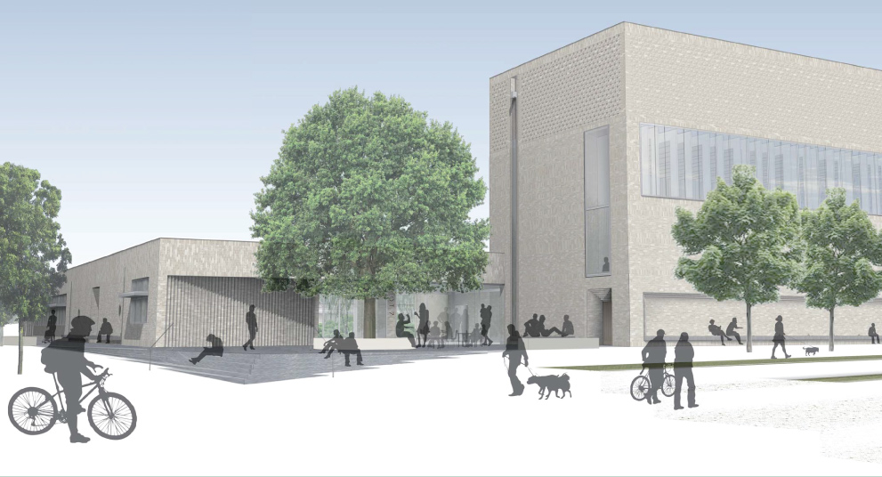Artists impression of Storey's Field Centre once completed