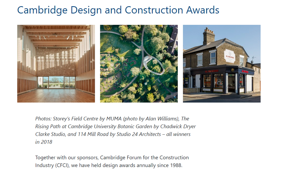 Cambridge Design and Construction Awards